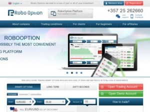 RoboOption, broker de opciones binarias