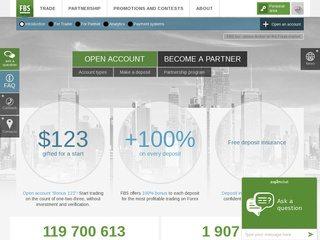 FBS Broker Homepage