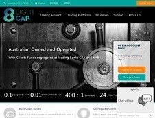 EightCap Pty Ltd Homepage