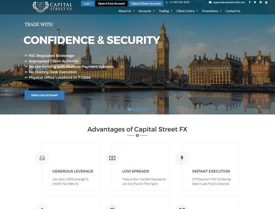 Capital Street FX Broker: Reviews and Specifications – Forex Brokers Portal